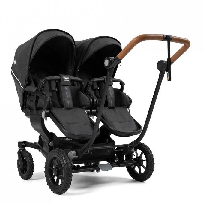 Прогулянкова коляска Emmaljunga NXT Twin Outdoor Air FLAT Lounge Black
