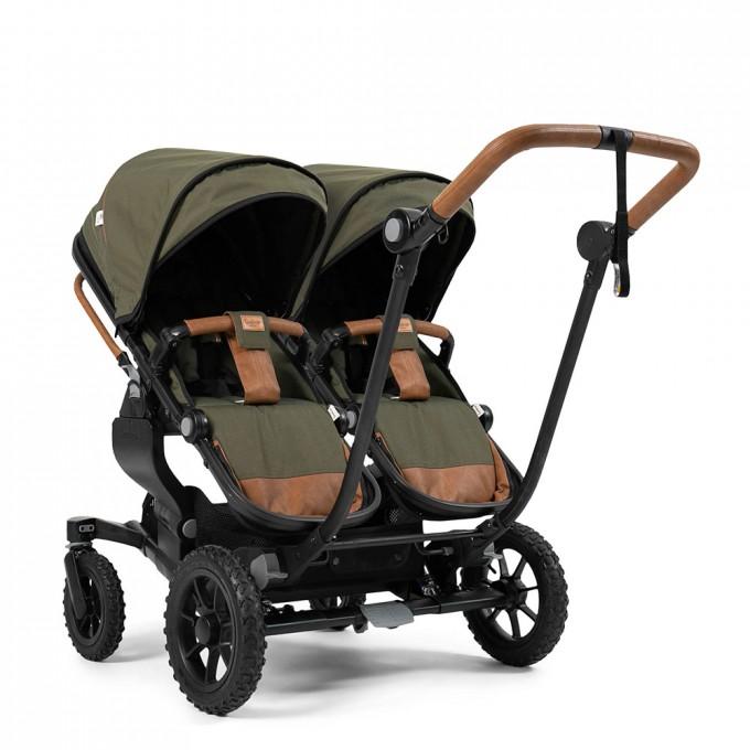 Прогулянкова коляска Emmaljunga NXT Twin Outdoor Air Outdoor Olive