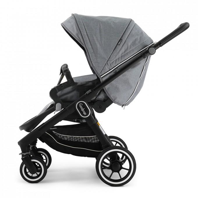 Emmaljunga NXT60 Black FLAT Lounge Grey Eco
