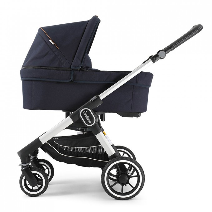 Emmaljunga NXT60 Silver Outdoor Navy Eco
