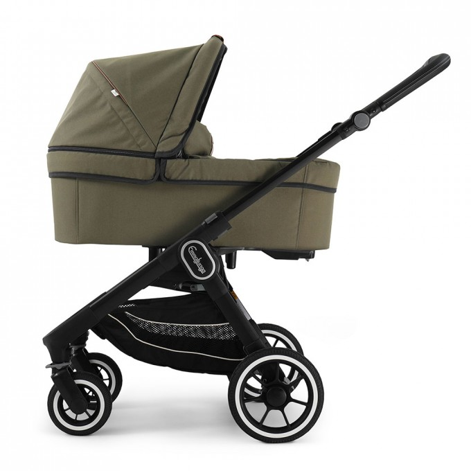 Emmaljunga NXT60 Black FLAT Outdoor  Olive Eco