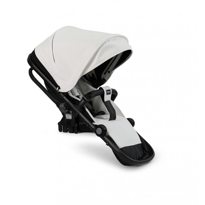 Прогулянкова коляска Emmaljunga NXT Twin Outdoor Air White Leatherette